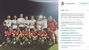 David Beckham dispute un match amical avec son fils Brooklyn et Harry Styles des One Direction