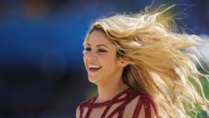 Shakira lors de la cérémonie de clôture du Mondial 2014 à Rio, le 13 juillet 2014.