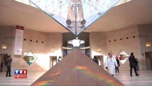 L'Apple Store au Carrousel du Louvre à Paris.