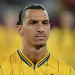 Le footballeur sudois Zlatan Ibrahimovic durant l&#039;Euro-2012 qui s&#039;est disput en Ukraine et en Sude