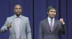 Mayweather Jr. and Pacquiao promote their clashMayweather Jr. and Pacquiao promote their clash
