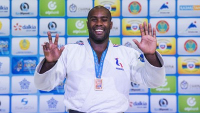Teddy Riner décroche une 8e médaille mondial lors des Championnats du monde d'Astana (Kazakhstan)