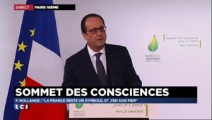 """Hollande au """"Sommet des consciences"""" : """"La France reste un symbole et j'en suis fier"""""""