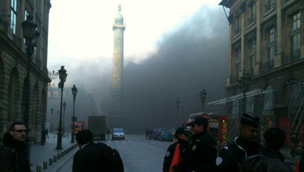 Incendie place Vendôme