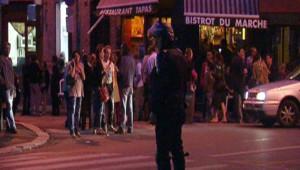 La police à Montreuil après des heurts, le 13 juillet 2009