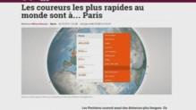 Les coureurs les plus rapides du monde sont à Paris selon une application.