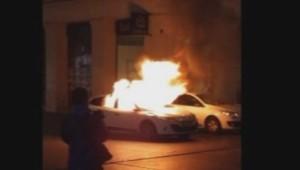 voiture incendiée république nuit debout