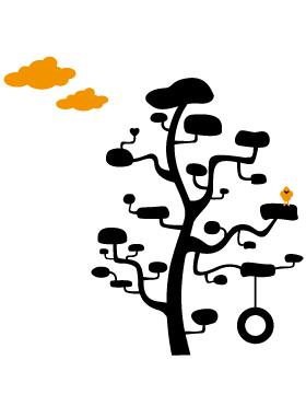 sticker déco - arbre