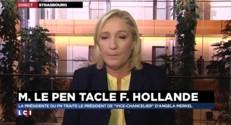 """Marine Le Pen : """"Mon modèle c'est celui d'une Europe qui se protège de l'immigration massive"""""""