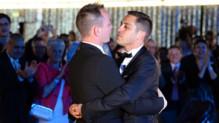 Vincent et Bruno se sont mariés le 29 mai 2013 à Montpellier, le premier mariage gay de France
