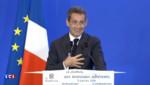 Nicolas Sarkozy le 9 janvier 2016 lors de ses vœux aux adhérents du parti Les Républicains