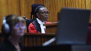 Thokozile Masipa, la juge du procès Oscar Pistorius lors de l'énoncé du verdict le 11/09/2014 à Pretoria