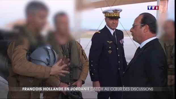 François Hollande fait escale en Jordanie pour remercier les militaires qui bombardent Daech