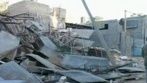 Les dégâts des bombardements à Gaza, le 10 janvier 2009
