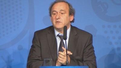 Michel Platini lors de son discours, le 10/06/15.