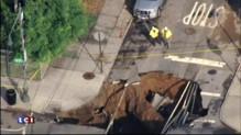 À Brooklyn, un trou géant s'est formé en plein milieu de la chaussée