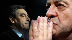 François Fillon (à gauche) et Jean-Luc Mélenchon (à droite) - montage