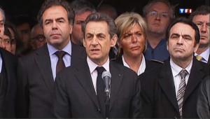 """Fusillade à Toulouse : Sarkozy sur place évoque """"une tragédie"""""""