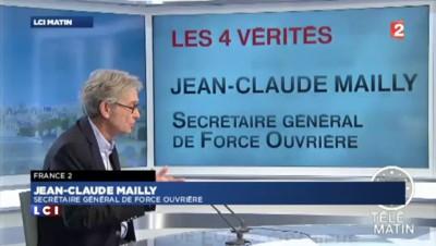 """Hollande sur TF1 : """"Pas de cap nouveau"""" déplore Mailly"""