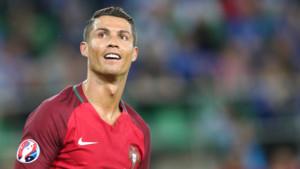 Cristiano Ronaldo lors du match Portgual Islande du 14 juin 2016 à Saint Etienne