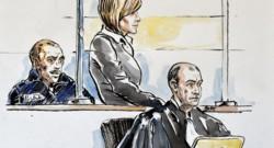 Croquis d'Audrey Chabot lors de son procès.