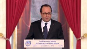 Le 13 heures du 5 février 2015 : Les principales annonces du grand oral de François Hollande - 389.904