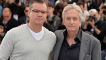 Les acteurs Matt Damon et Michael Douglas lors du photo-call du film Ma vie avec Liberace le 21 mai 2013  Cannes