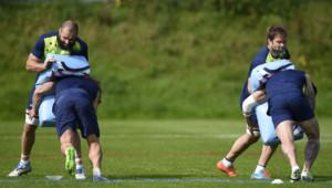 Rugby : entraînement de l'Australie à Bath, le 26/9/15