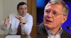 Patrick Pouyanné nomé directeur général de Total (gauche), Thierry Desmarest, Président.