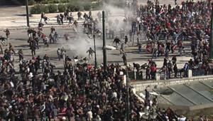Violences lors de la manifestation anti-austérité à Athènes, le 20 octobre 2011
