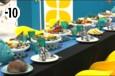 Un dîner fruits de mer attend les habitants dans la salle à manger.