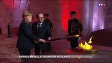 François Hollande et Angela Merkel commémorent le centenaire de la bataille de Verdun