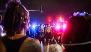 Manifestations à Ferguson, le 11 août 2015