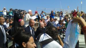 Le pape François à Lampedusa