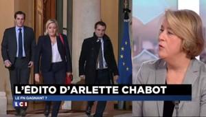 """Arlette Chabot : """"Si le FN ne gagne pas, il pourra encore dénoncer la grande alliance des partis"""""""