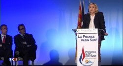 En meeting à Nice, Marine Le Pen attaque Hollande sur sa politique laxiste face au terrorisme