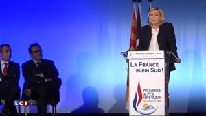 En meeting à Nice, Marine Le Pen attaque Hollande sur sa politique laxiste face au terrorisme