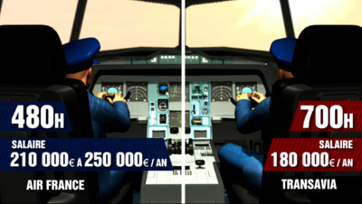 Le 20 heures du 15 septembre 2014 : Quelles diff�nces entre les pilotes d%u2019Air France et de Transavia ? - 739.5960160827636