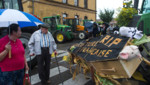 Les agriculteurs ont manifesté leur colère dans les rues de Colmar