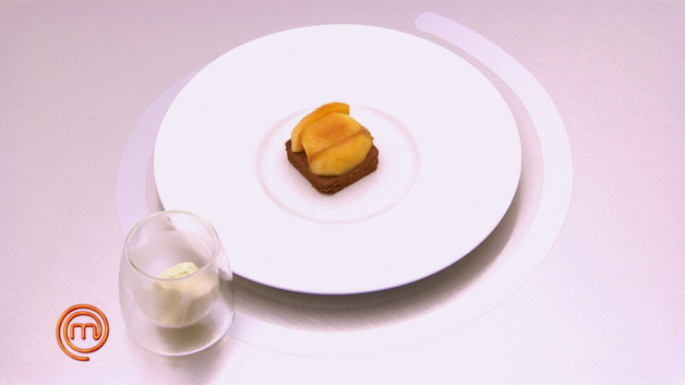 Recette sabl breton aux pommes po l es glace vanille - Recette tuiles aux amandes masterchef ...