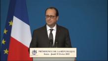 Le 20 heures du 19 février 2015 : Dissuasion nucléaire : Hollande dévoile le nombre de bombes de l'armée française - 295.9804079284668