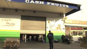 Le lieu de la fusillade à Nice, le 10 février 2012