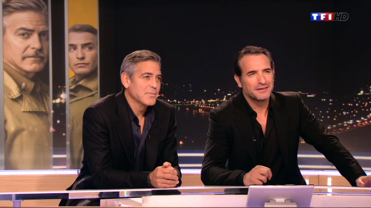 George clooney et jean dujardin invit s blagueurs de tf1 for Dujardin tf1