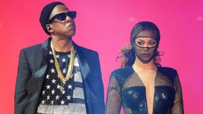 Beyoncé et Jay Z lors de leur concert au Rose Bown de Pasadena le 3 août 2014