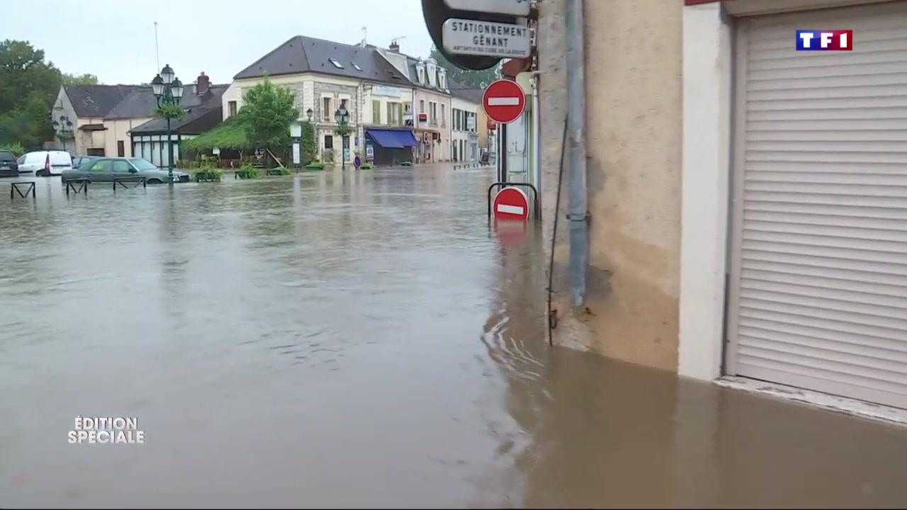 inondations souppes sur loing devenue ville fant me apr s les vacuations le journal de 13h. Black Bedroom Furniture Sets. Home Design Ideas
