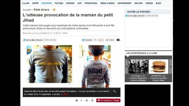 jihad t-shirt le parisien