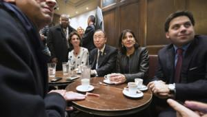 Ban Ki-moon A la Bonne Bière Hidalgo attentats