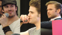 Ian Somerhalder,Paul Wesley et Matt Davis  Paris, le 19 mai 2013.
