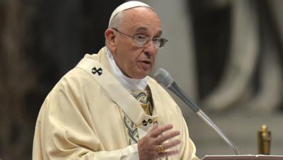 Le pape François au Vatican le 12 avril 2015