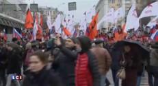 Moscou : au moins 10.000 participants à la marche en mémoire de Nemtsov